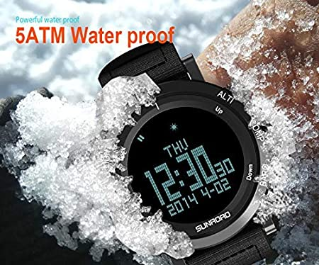 yellow Sunroad Outdoor Sports Digital Men Watch-stopwatch Waterproof Altimeter Barometer Compass Pedometer Watches Clock Men Strong Resistance To Heat And Hard Wearing
