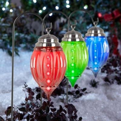 Lightshow Multicolor Shooting Star Pathway Ornaments (Set of 3)
