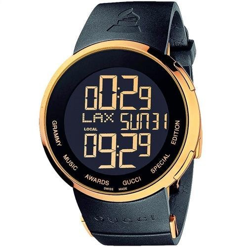 Gucci I GUCCI - Reloj de cuarzo para hombre, con correa de goma, color