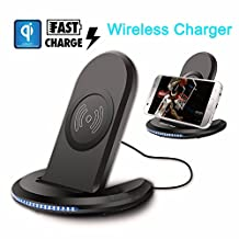 Buildent(TM) Fast Qi Wireless c-h-arg-er Charging Pad Stand Dock for Galaxy Note 8/iPhone 8 Plus For iPhone X