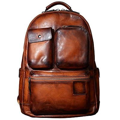 Backpack Luxury Mens Cow Leather Handbag Bag