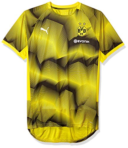 - PUMA Men's BVB Stadium Graphic Jersey with Sponsor Logo, Cyber Yellow, X-Large