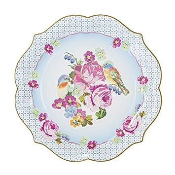 4x Large Serving Paper Plates - Vintage Floral Design  sc 1 st  Amazon UK & 4x Large Serving Paper Plates - Vintage Floral Design: Amazon.co.uk ...