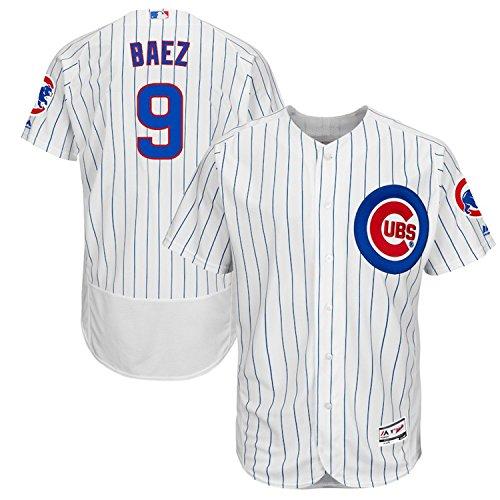 - Majestic Athletic Men's Chicago Cubs #9 Javier Baez Majestic White/Royal Home Flex Base Player Jersey (M)