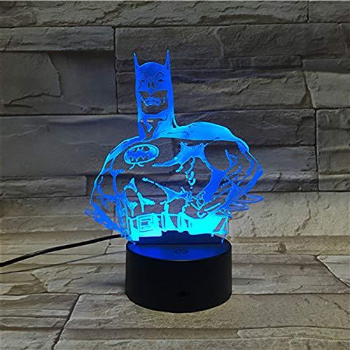 Lampe Illusion Batman 3d Interrupteur Tactile à Dégradé De