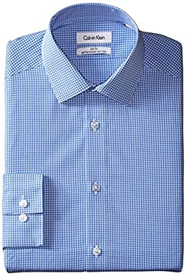 Calvin Klein Men's Slim-Fit Non-Iron Gingham Shirt