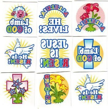 He Lives, He Is Risen, Religious, Easter, Inspirational - 72 Temporary Tattoos/ Party Favor for $<!--$9.99-->