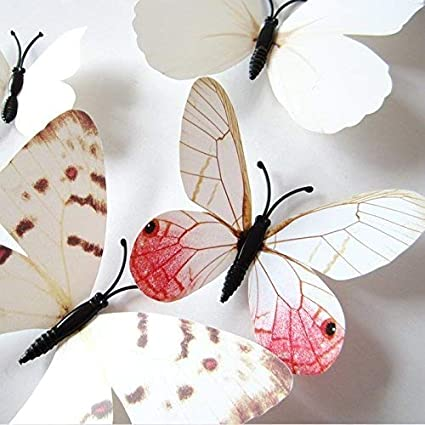 wall decor for office. Amaonm 24pcs 3d Vivid Special Man-made Lively Butterfly Art DIY Decor Wall Stickers Decals For Office