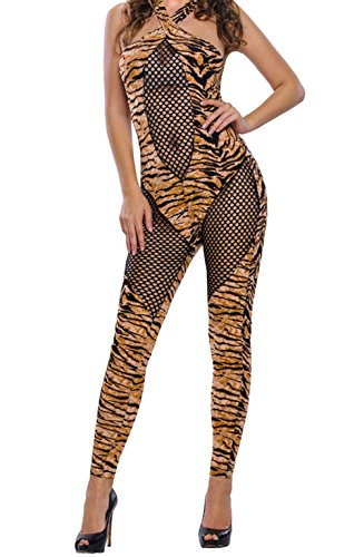 BYY 2pcs Adult Tiger Kitty Cosplay Halloween Costume(Size,S)