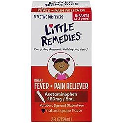Little Remedies Infant Acetaminophen Fever/Pain Reliever, Grape Flavor, Infants 2-3 yrs, 2 Ounce