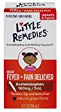 infant grape tylenol - Little Remedies Infant Fever + Pain Reliever | Natural Grape Flavor | 2 oz | For Ages 2-3 years and up