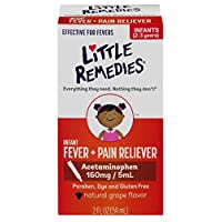 Little Remedies Infant Acetaminophen Fever/Pain Reliever, Grape Flavor, Infan...