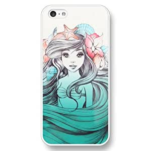 Lmf DIY phone caseUniqueBox Customized Disney Series Case for iphone 5/5s, The Little Mermaid iphone 5/5s Case, Only Fit for Apple iphone 5/5s (White Hard Shell)Lmf DIY phone case