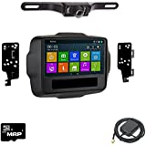Otto Navi DVD GPS Navigation Multimedia Radio and Dash Kit for Jeep Renegade 2015-2016 with Back up camera and extra