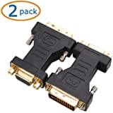 Cable Matters 2 Pack DVI-I (24+5) to VGA Male to Female Adapter