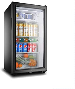 KYEEY Freestanding Wine Cooler,Wine Cellar - Beverage Cooler, Single Zone Temperature, 100litres, 45cm Wide,LED Interior Lighting, Black