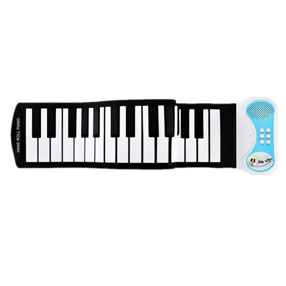 BWAM-MUS Portable Roll Up Piano USB 49-Key MIDI roll up Electronic Piano Keyboard Silicone Elastic Professional for Beginners and Kids