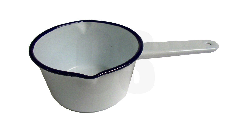 Falcon Enamel Sauce Gravy Soup Milk Pan 14cm White KitchenCenter 54214WH