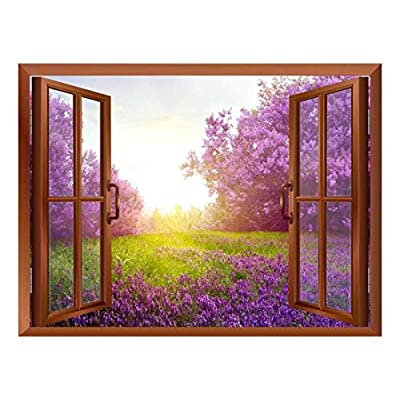 Charming Piece, Lavender Field Removable Wall Sticker Wall Mural, Premium Creation