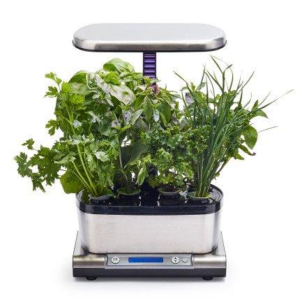 AeroGarden Harvest Elite WiFi with Gourmet Herbs Seed Pod Kit, Stainless Steel by AeroGrow (Image #1)