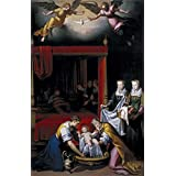 Canvas Prints Of Oil Painting 'Pantoja De La Cruz Juan El Nacimiento De La Virgen 1603' 30 x 47 inch / 76 x 119 cm , Polyster Canvas Is For Gifts And Bed Room, Gym And Home Theater Decoration, huge