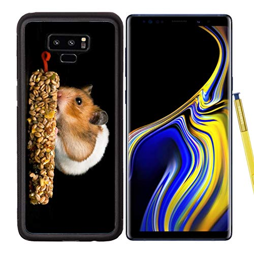 (Samsung Galaxy Note9 Case Aluminum Backplate Bumper Snap Case Image ID: 10492602 Female Hamster with Full Cheeks Eating her Favourite Treat bar)