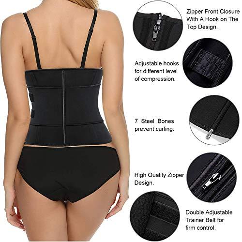 Waist Cincher Shaper Slimmer SZAOYU Neoprene Sauna Belt Sweat Waist Trainer Corset Trimmer Belt for Women Weight Loss