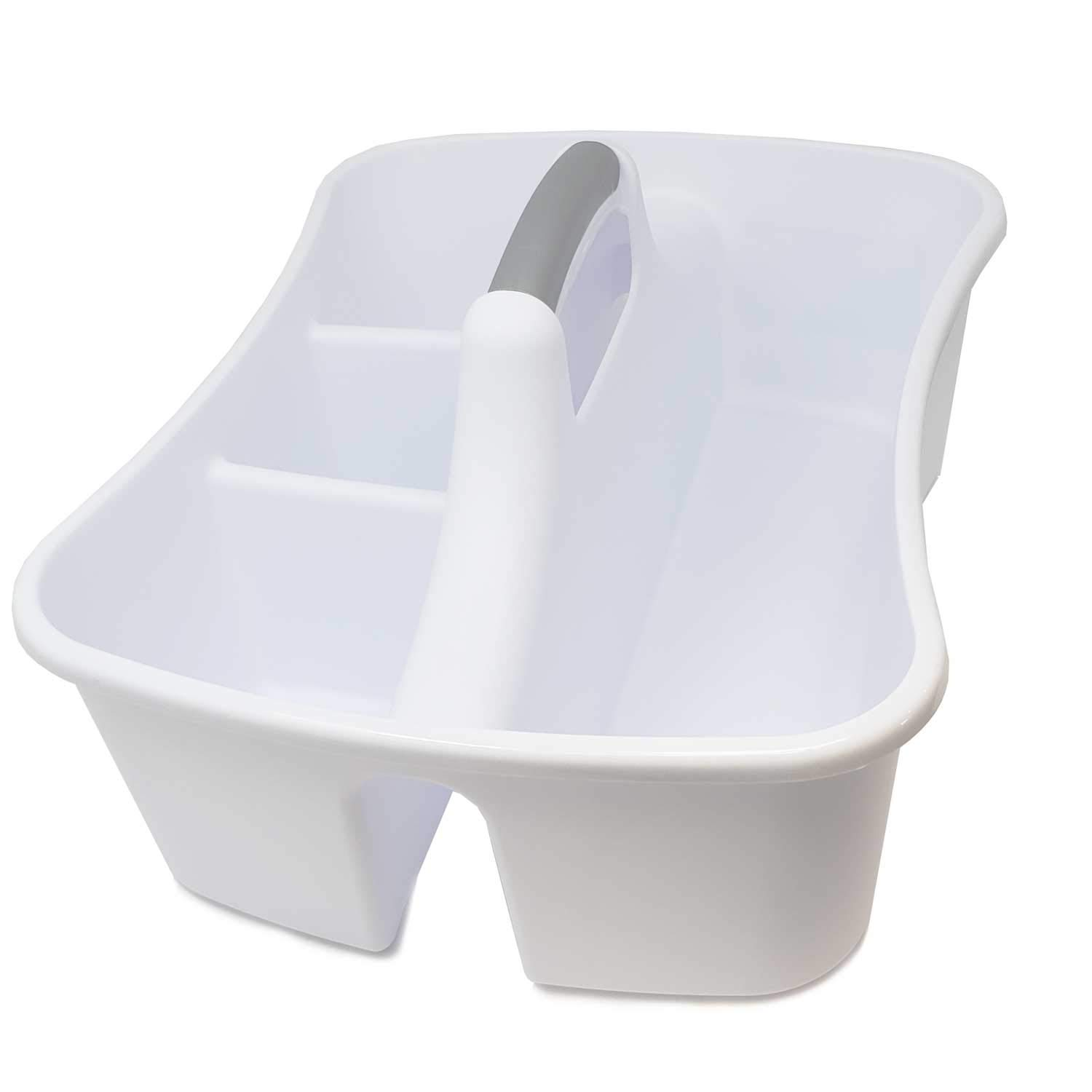 Bath Kitchen Divided Compartment Caddy Storage Sink Organizer Janitors Bucket Soap Cleaning Brush Sponge Bottle Holder Shower Basket Supplies Cabinet Container - 17 3/4'' L x 13 1/4'' W x 8 by LavoHome (Image #2)