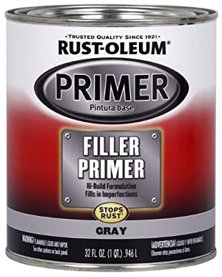 Rust-Oleum Automotive 254863 32-Ounce Filler Primer Quart, Gray