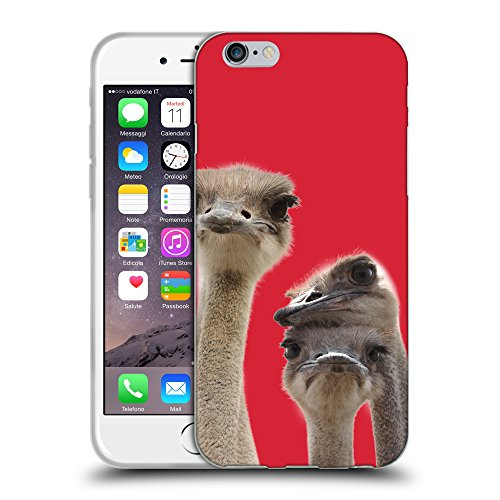 GoGoMobile Coque de Protection TPU Silicone Case pour // Q05720601 Jolies autruches Alizarina // Apple iPhone 7