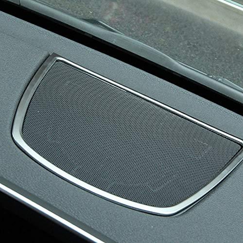 Nrpfell Abs Etiquetas Engomadas del Adornos De La Cubierta del Marco del Altavoz del Tablero De Instrumentos del Coche para BMW X5 X6 F15 F16 Accesorios Coche Estilo 2014-Up