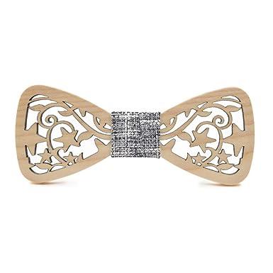 Corbata, Moda Hombres y mujeres Estrellas de madera Hoja Diseño ...