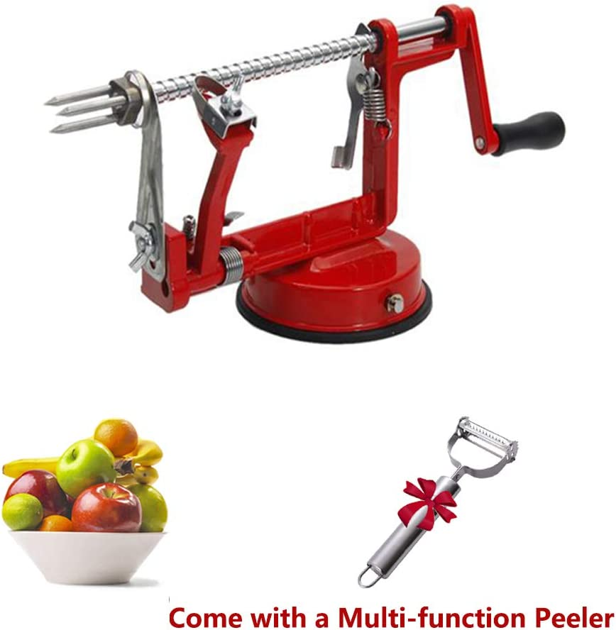 3-in-1 Apple/Potato Peeler Corer Stainless Steel Hand-cranking Apple Peeler Slicer Peeler