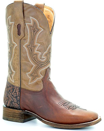 Corral Hombres Hombres Tyson Durfey Performance Line Td Bota Square Toe Tan 10 B