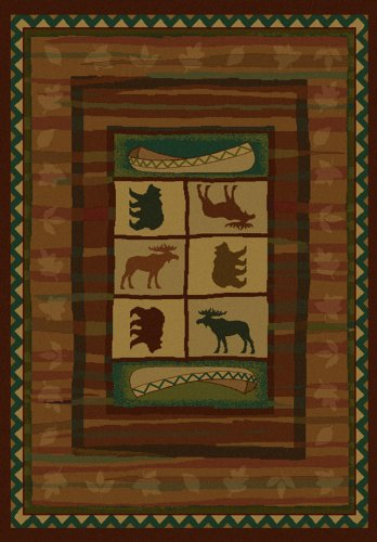 United Weavers Genesis Area Rug 130-28277 Hearthstone Lodge Wildlife Outdoors 1' 10