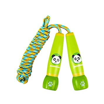 Amazon Com Gallity Kids Jump Rope Adjustable Cartoon Jump Rope For Kids With Wooden Handles Childrens Skipping Ropes For Boys And Girls Exercise Fitness Training Workout Green Beauty