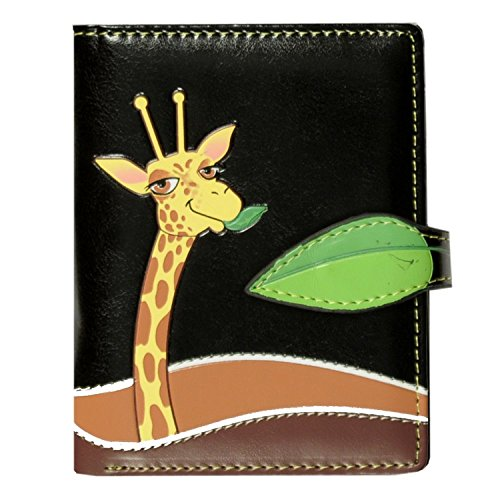 Shag Wear New Small Woman's Wallet Giraffe Black