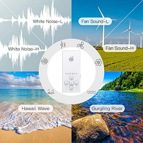 Portable White Noise Machine Only Played by Earphone, PICTEK Mini Travel Sound Machine with 12 Non-looping Soothing Sounds, Auto-Off Timer for Travel, Office, Sound Therapy
