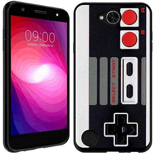 LG Fiesta case - [Retro Controller] (Black) PaletteShield Soft Flexible TPU gel skin phone cover (fit LG Fiesta/ X Charge/ X Power 2/ L63BL/ L64VL)