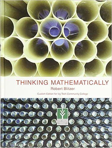Thinking mathematically, a la carte plus (4th edition): robert f.