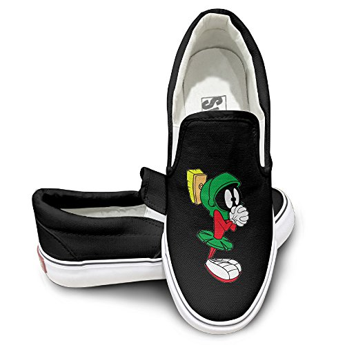 [HYRONE Marvin The Martian Fashion Sneakers Shoes Travel Black] (Looney Tunes Martian Costume)