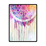 HommomH 60″ x 80″ Soft Blanket Air Conditioning Colorful Dreamcatcher