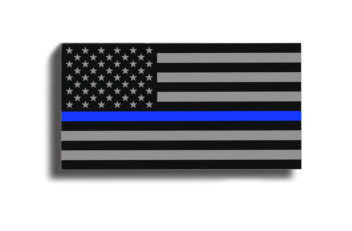 BLUE LINE American Flag Subdued Sticker Decal Lives Matter - Support Police USA Merica