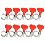 Stainless Steel Hose Clamp,MRbrew 10Pcs worm gear