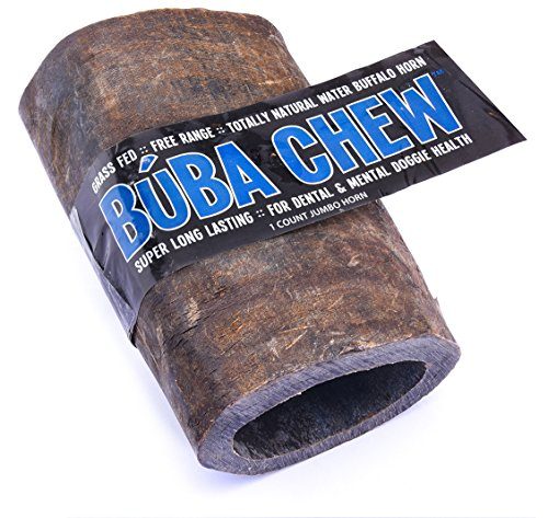 Super Snouts BUBA CHEW Natural Water Buffalo Horn - Jumbo - Snout Dog Chew Treat