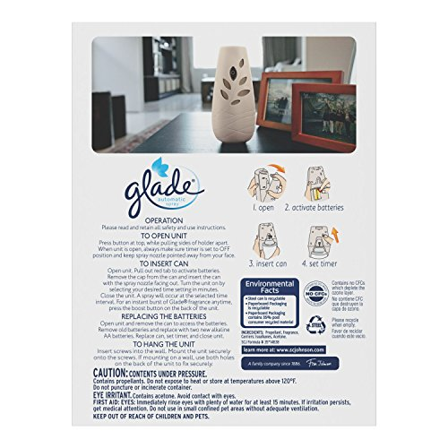 Glade Automatic Spray Starter Kit - Clean Linen - 6.2 oz
