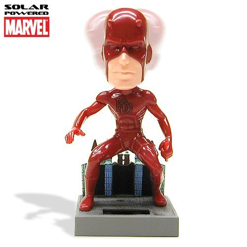 Marvel Comic Dare Devil Solar Powered Bobble Head
