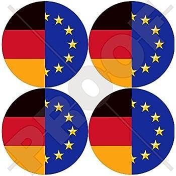EUROPE European Union-Romania Flag Roundel EU-RO Romanian 50mm Sticker Decal x4
