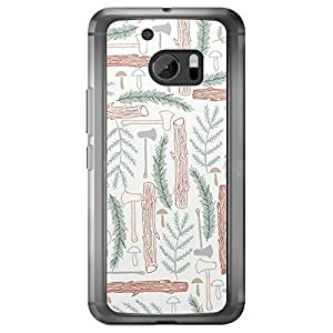 Loud Universe HTC M10 Wild 5 Printed Transparent Edge Case - Multi Color