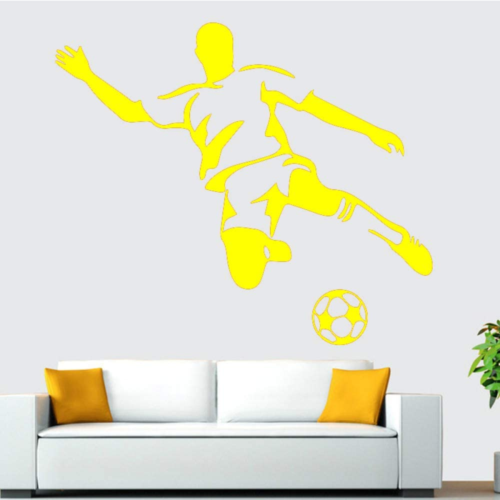 Ajcwhml Fútbol Boy Wall Art Aplique Etiqueta de la Pared Mural Art ...